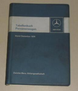 Manuales-de-Tablas-Mercedes-Benz-Coche-Tipo-W-114-115-123-116-CLASE-S-R-C-107-Sl