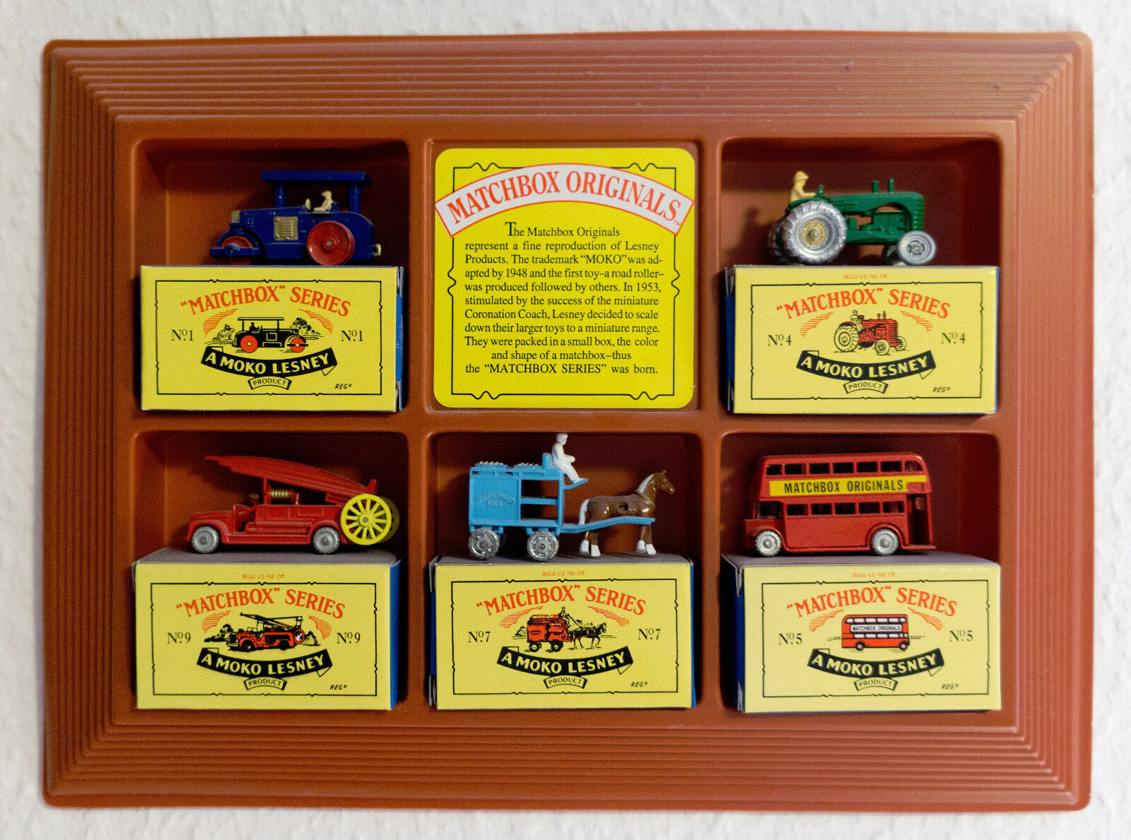 Limited Edition Matchbox originals Authentic RECREATIONS 5 pieces Wall Display