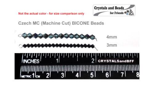Crystal Vega Luster coated Czech MC Glass Bicone Beads Rondell//Diamond