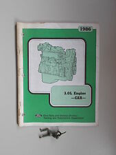 1986 Ford 3.0L Engine-Car Training Guide Manual book *FREE SHIPPING*