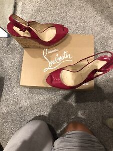Louboutin-Wedges-Hot-Pink-Groesse-39