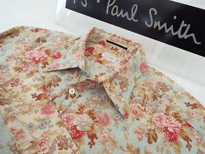 Paul-Smith-Para-Hombre-Camisa-de-la-linea-principal-Talla-S-Pecho-36-034-RRP-195-Estilo-Floral