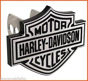 Harley-Davidson-Shield-Logo-1-1-4-034-2-034-Brushed-Metal-Hitch-Plug-Receiver-Cover