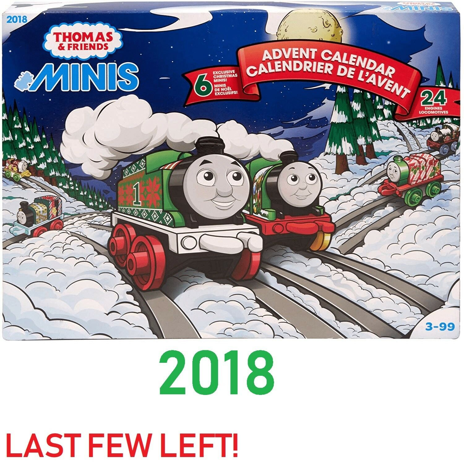 2018 Thomas Friends-Thomas Mini's & de navidad Adviento Calendario 6 exclusivo trenes