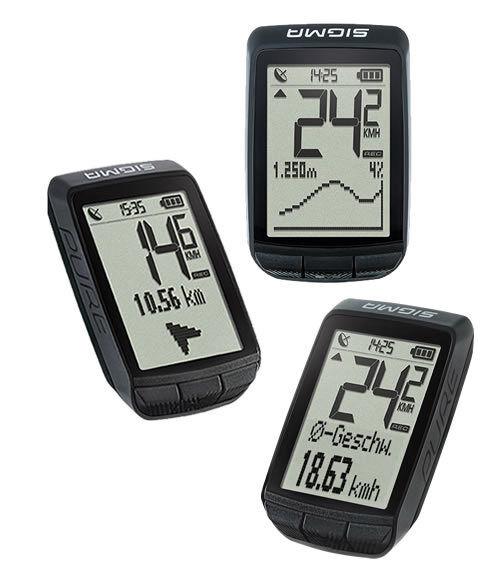 SIGMA Fahrradcomputer PURE GPS - Tacho Höhenmessung  in schwarz