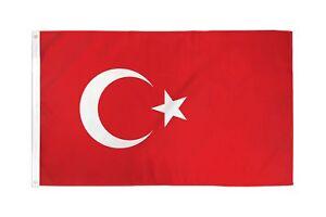 REPUBLIC OF TURKEY FLAG 2X3 FEET TURKISH COUNTRY NATION BANNER NEW F442