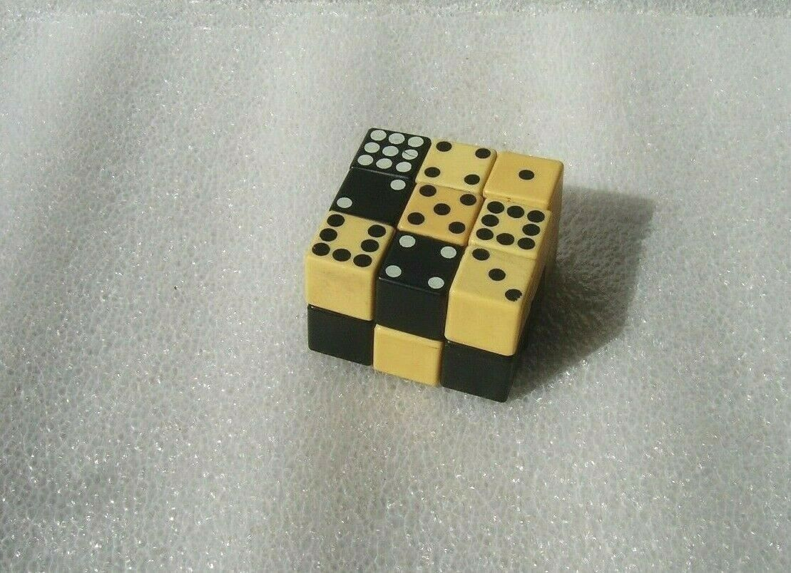 VINTAGE RUBIK'S CUBE TOY PUZZLE GAME - DOMINO, HUNGARY, 1980s