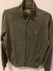 Men-039-s-Polo-Ralph-Lauren-Performance-Full-Zip-Track-Jacket-Size-M-Olive-Green