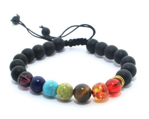 Malasation 7 Chakra Guérison Bead essentialoil Diffuseur lavastone Energy Bracelet