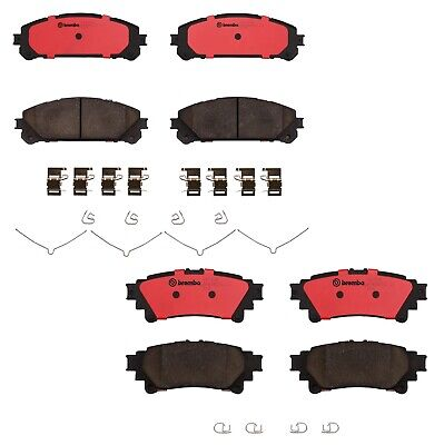 NEW Front /& Rear Brembo NAO Ceramic Brake Pads Kit For Toyota Highlander Sienna