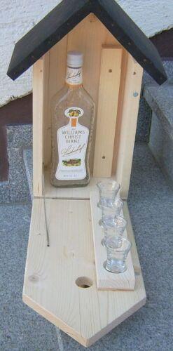Casetta schnapsbar zwitscherkasten con bicchieri Uccelli Casetta festa del papà
