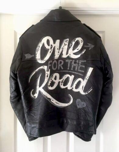pelle strada motociclista la mascotte da in da 36 vintage giacca Giacca 38 di per xPBIqx