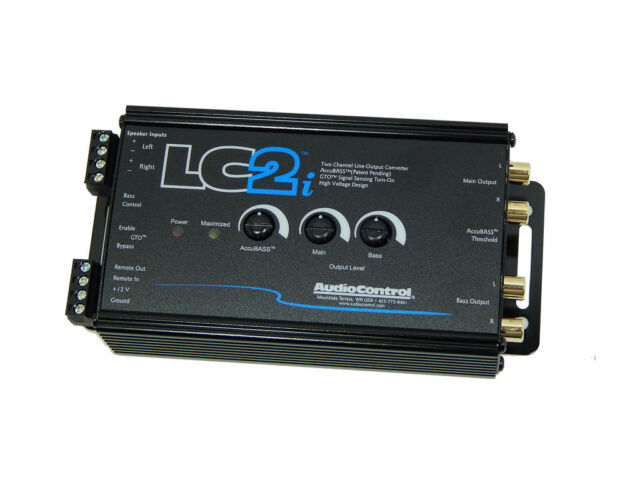 High to Low 2-Channel Line Output Converter AudioControl LC2i with AccuBASS NEW