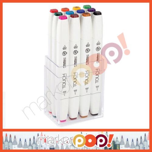 ShinHan Art TOUCH TWIN Brush Marker Set 12 Main Colors 1211213 USA Dealer