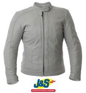 BKS Windsor Ladies Leather Motorcycle Jacket Womens WAS £199.99 Cream J/&S SALE