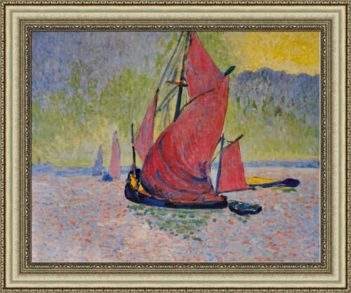 """Derain Andre The Red Sail Framed Canvas Giclee Print 32.5/""""x27/"""" V11-13"""