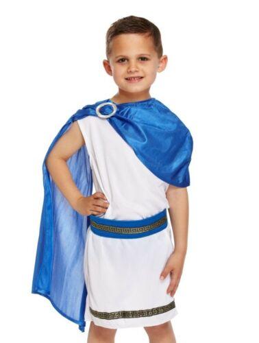 Cesare RAGAZZI Costume Imperatore Romano Toga Greco Kids Childs LIBRO giorno UK