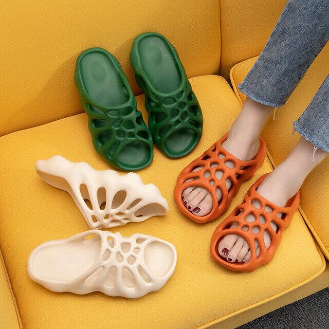 Soft Eva Cut-out Slippers Men Women Beach Slides Unisex Fashion Mesh Sandals