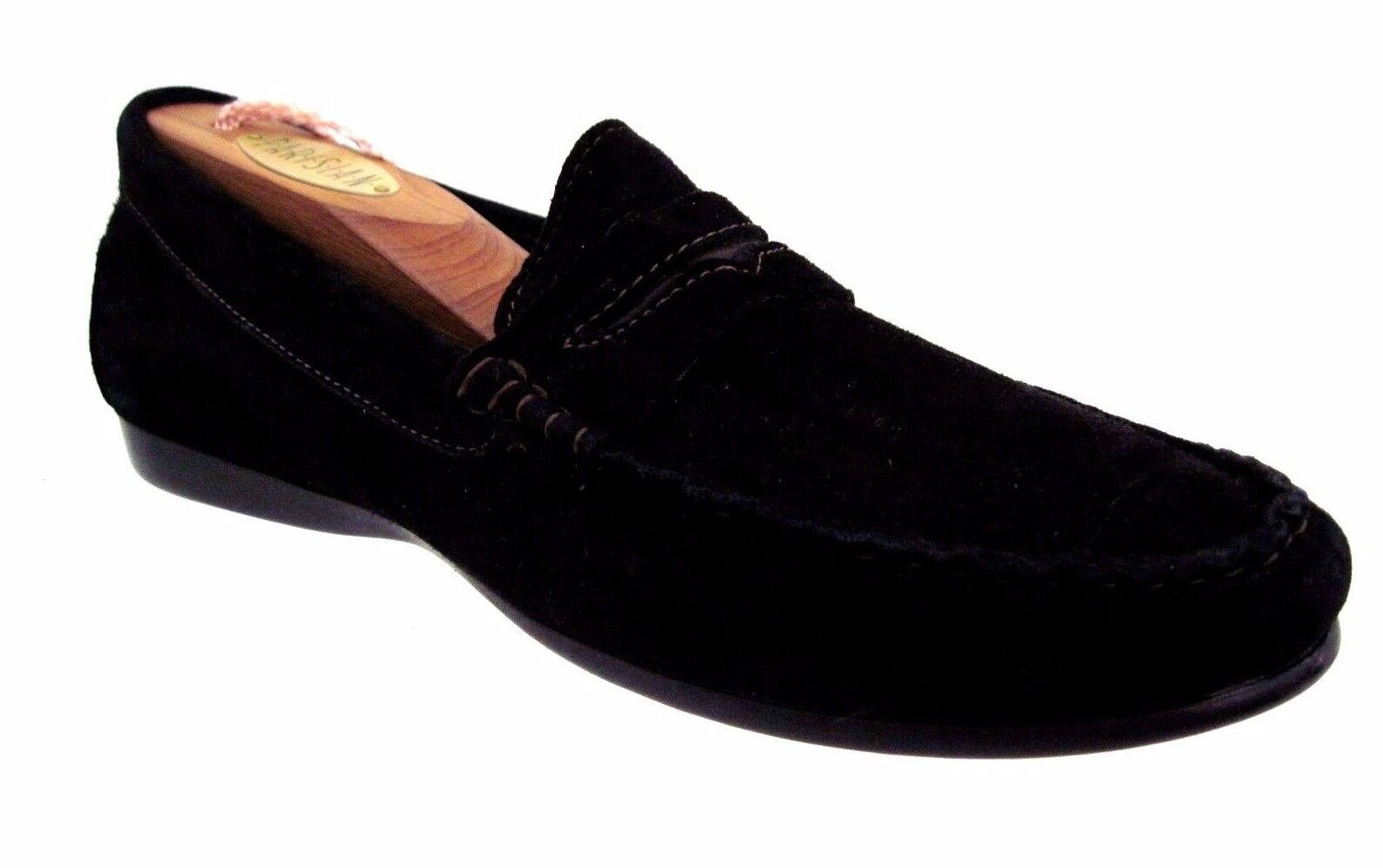 MUNRO American Black Suede Penny Style Loafers Size 7 N USA