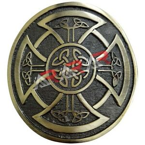 Round Celtic Knot Kilt Belt Buckle Antique Finish Highland Belt Buckle Celtic