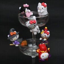 NEW Taiwan Sanrio 6 Hello Kitty Funny Show Halloween Edge of the Cup Figure Set
