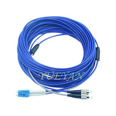100M Black Armored Fiber Cable LC-LC UPC SM 9//125 Duplex Fiber Optic Patch Cord