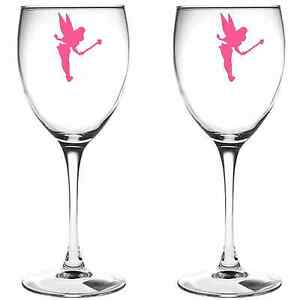 X FAIRY WINE GLASS VINYL STICKERS DECAL A EBay - Wine glass custom vinyl stickers