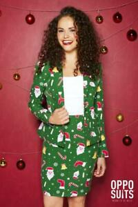 Santababe-Santa-Christmas-Women-039-s-Costume-Opposuit-Slimline-2-teilig-Premium