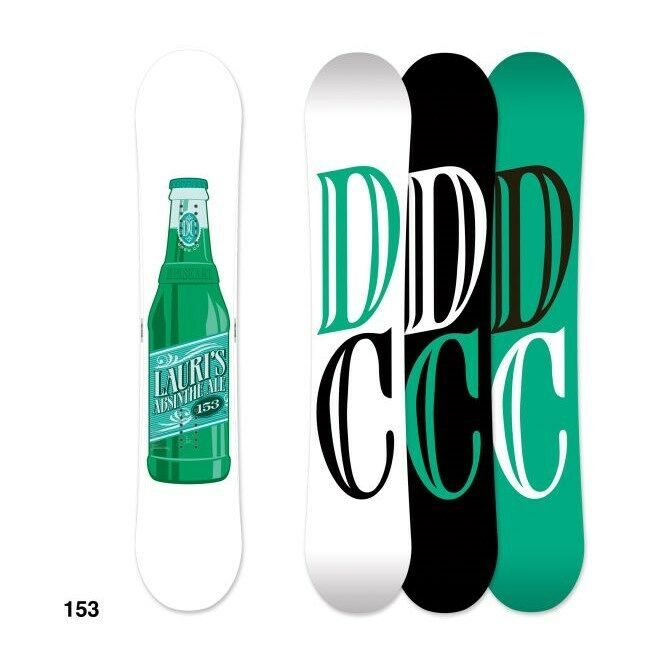DC LAURI PRO SNOWBOARD – COLOR  WHITE GREEN – SIZE  153CM