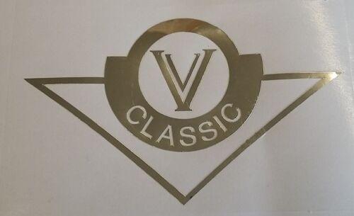 VN 1500 900 800 Classic single colour vinyl tank badge stickers pair