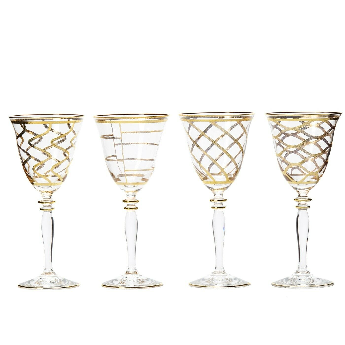 Vietri Elegante Assorted Vin-Set de 4