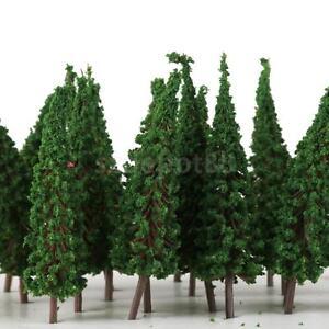 50pcs-Pagoda-Trees-Model-Train-Garden-Scenery-Wargame-Diorama-Layout-HO-OO