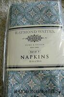 Raymond Waites Home & Design (4 ) Blue Yellow Floral Nip
