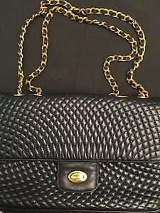 Image Is Loading Bally Quilted Double Flap Vintage Shoulder Bag