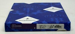 125 SHEETS NEW STRATHMORE ELEMENTS PAPER 90004 BRIGHT WHITE LINES 80# COVER