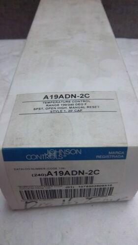 JOHNSON CONTROLS TEMPERATURE CONTROL A19ADN-2C NEW A19ADN2C