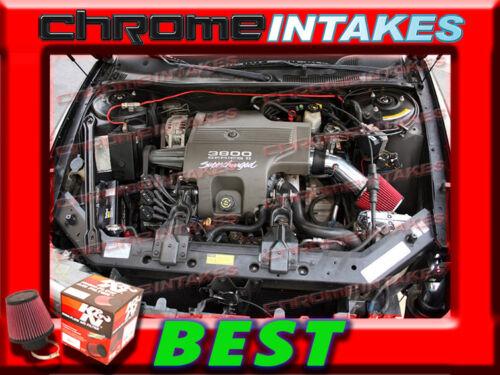 K/&N+BLACK RED 97 98 99 00 01 02-05 BUICK PARK AVE AVENUE 3.8 3.8L V6 AIR INTAKE