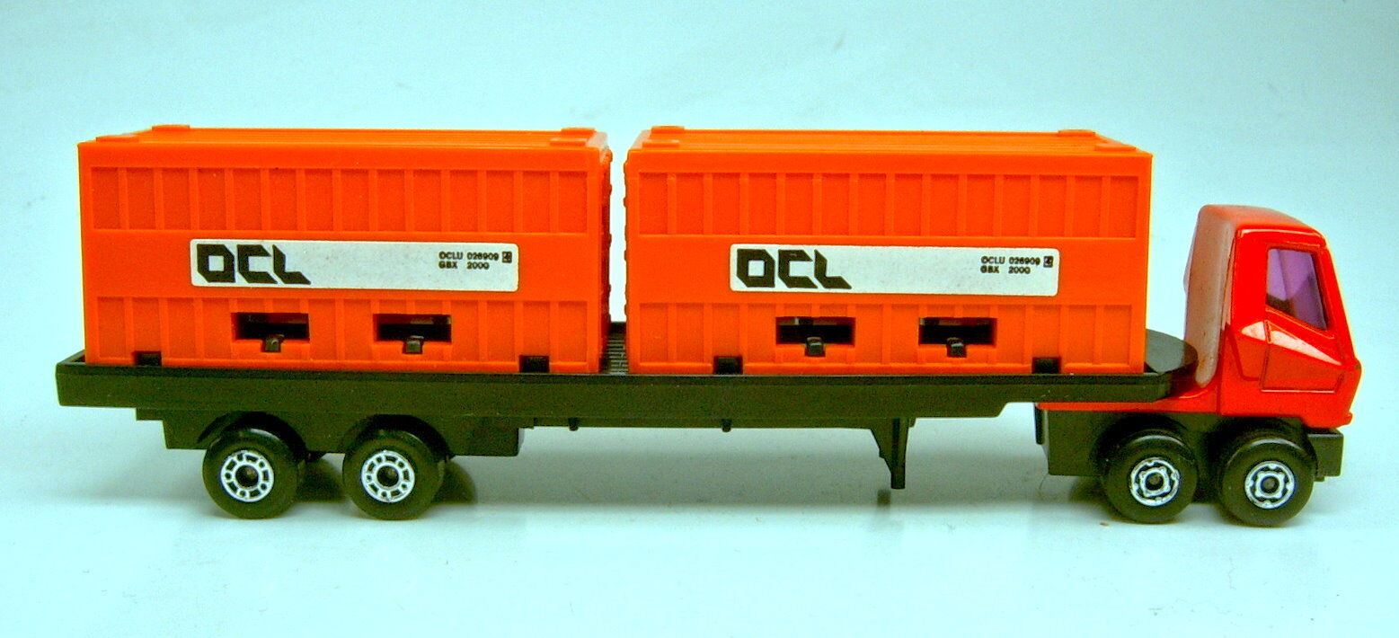 MATCHBOX superfast ps-1 remorques Orange conteneur  OCL  de conteneur playset