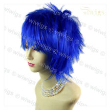 Wiwigs Striking Short Spikey Dark Blue Cosplay Party Hair Unisex Wig