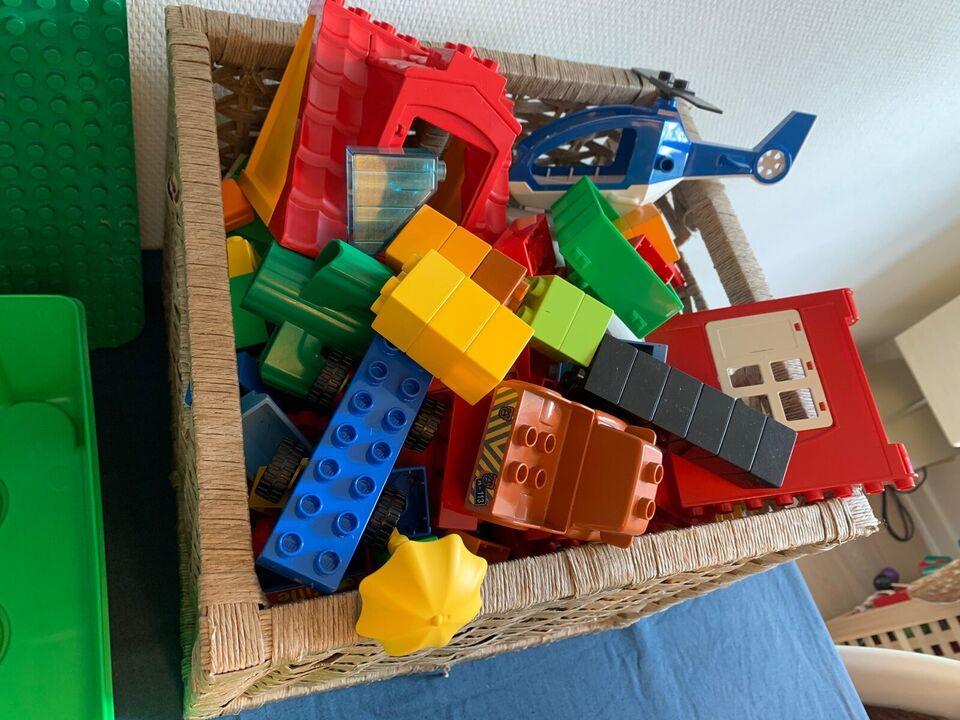 Lego Duplo, Blandet Duplo. Plader klodser mmm