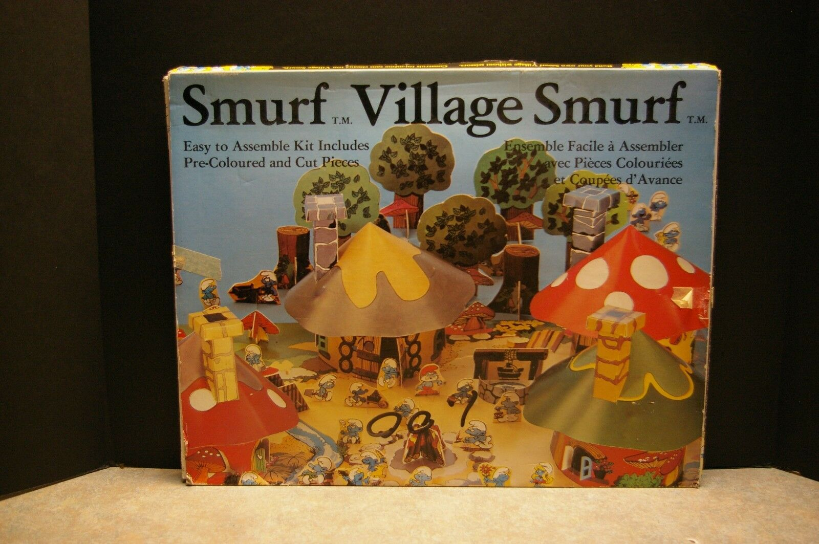 VINTAGE 1981 SMURF VILLAGE BUILD YOUR OWN PLAYSET EASY TO ASSEMBLE KIT