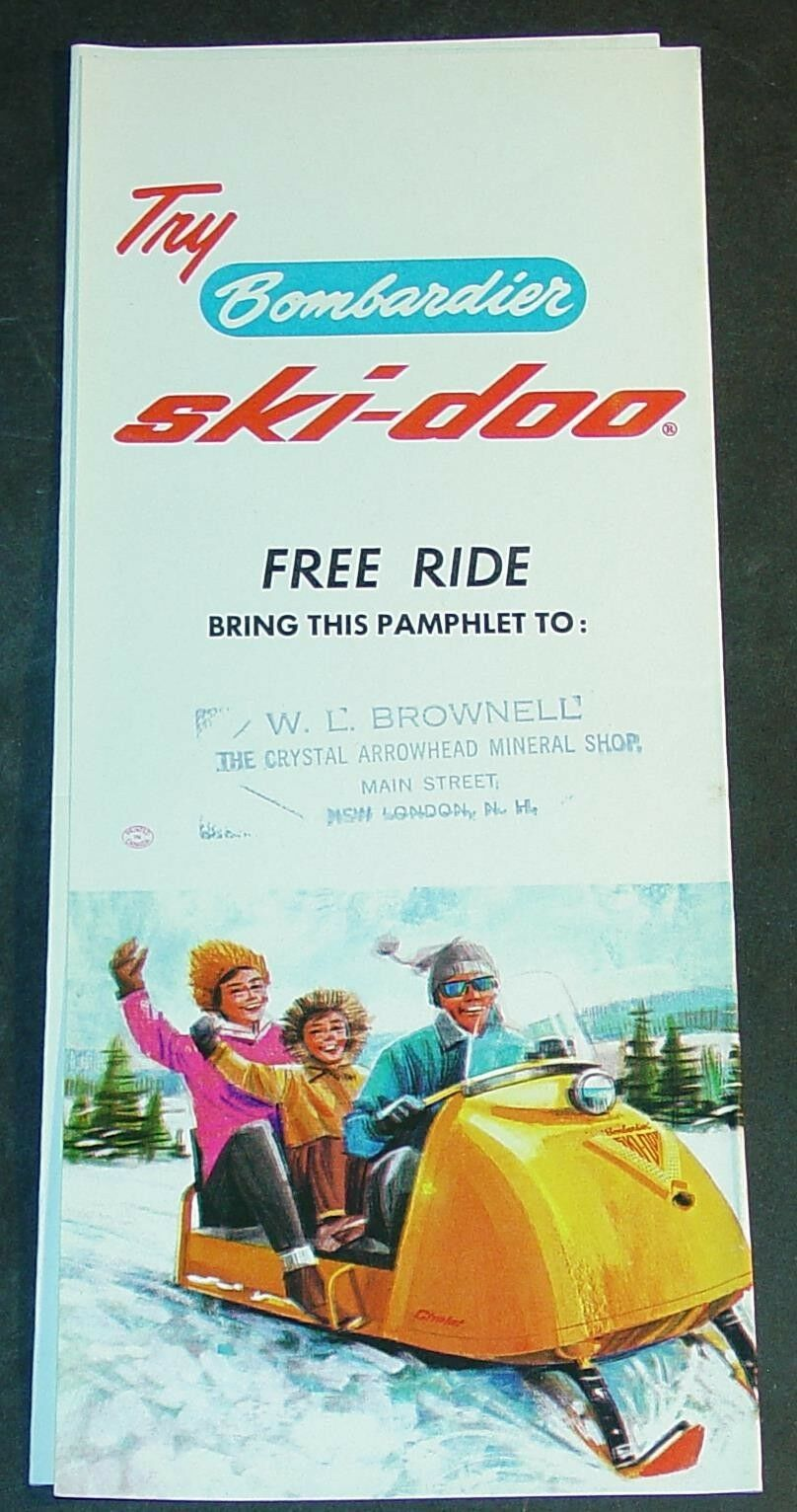 RARE VINTAGE 1965 SKI-DOO SNOWMOBILE TRI-FOLD SALES BROCHURE  (731)   best-selling
