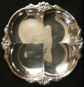 Vintage-International-Deep-Silver-Silver-Plate-Empress-Pattern-Serving-Tray