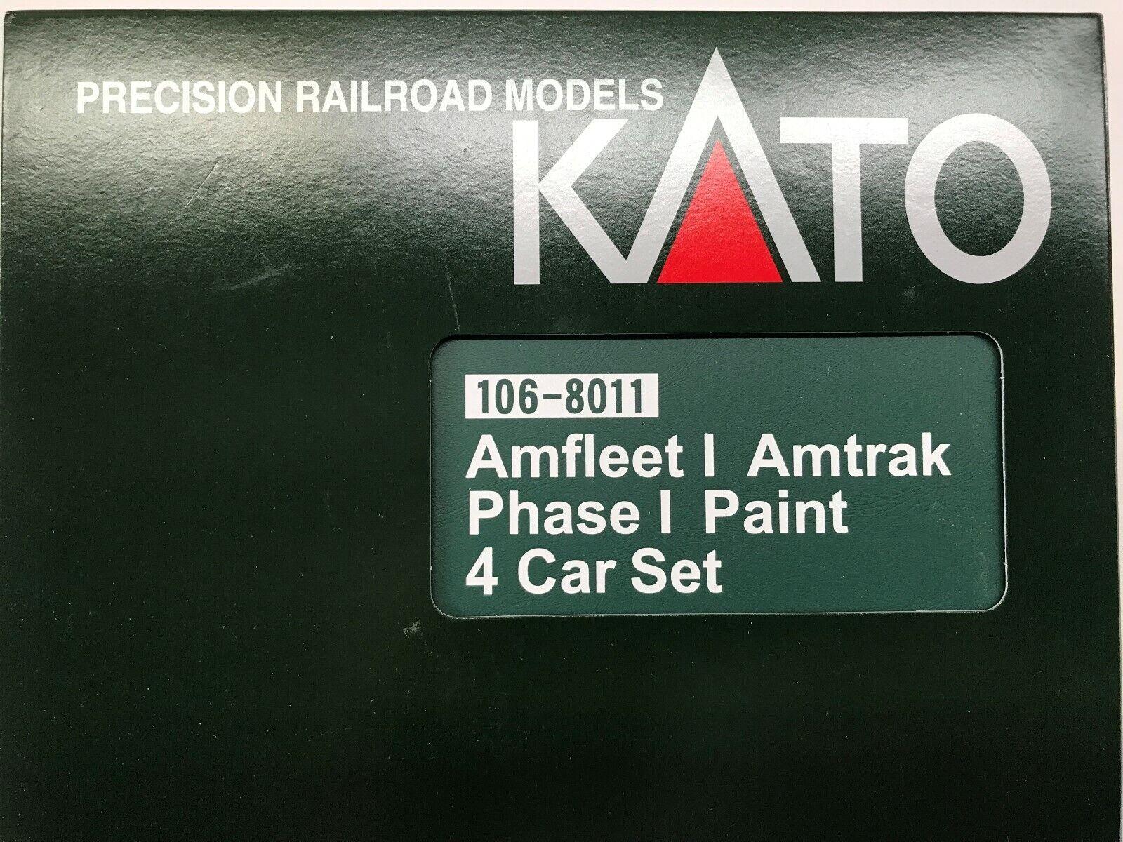 Kato AMTRAK autovetture 4 Set Per Auto Scala N fase i Amfleet Set di 4 1068011