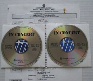 QUEEN + BRIAN MAY Westwood One IN CONCERT #93-26 2xCD LIVE RADIO SHOW Mercury