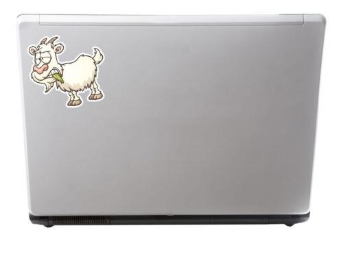 2 X Con Cuernos De Cabra pegatina de vinilo Ipad Laptop Auto Moto Casco gracioso Regalo # 4355