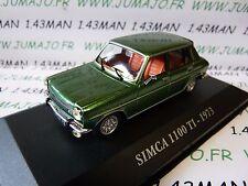 Voiture 1/43 IXO altaya Voitures d'autrefois : Simca 1100 TI 1973