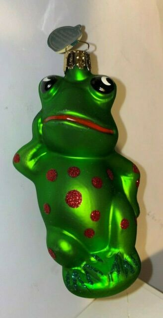 Christborn German handcrafted FROG Christmas Ornament ...