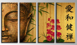 Cuadro Moderno Fotografico base madera, 100 x 62 cm, Buda, Buddha