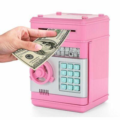 Box Bank Money Piggy Coin Saving Kids Electronic Gift Safe Jar Cash Digital Coin